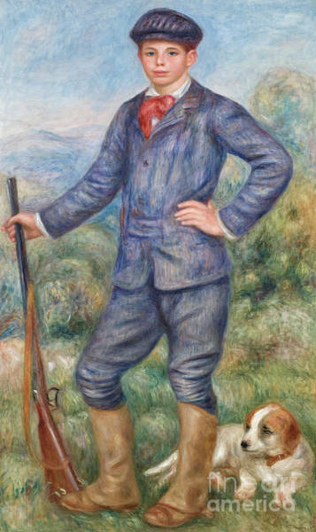 Huntsmen Wall Art - Painting - Jean As A Huntsman by Pierre Auguste Renoir