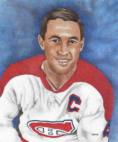 Montreal Canadiens Painting - Jean Beliveau by Rob Payne
