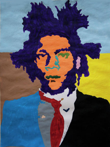 Wall Art - Painting - Jean Michel Basquiat by Stormm Bradshaw