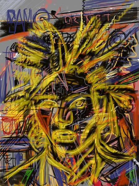 Wall Art - Mixed Media - Jean Michel by Russell Pierce