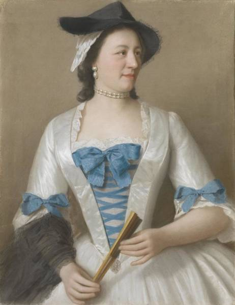 Jean Etienne Liotard Wall Art - Painting - Jeanne-elisabeth Sellon 1705-1749, Lady Tyrell, Echtgenote Van Sir Charles Tyrell, 7de Baronet Van by Celestial Images