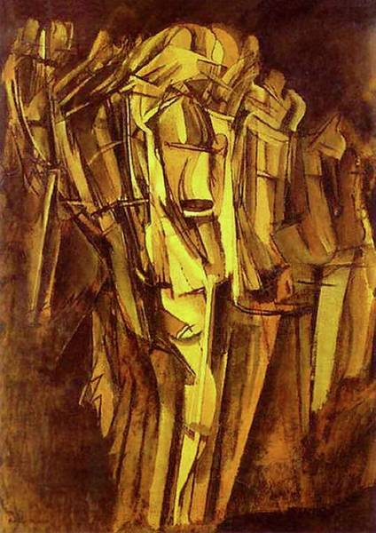 Painting - Jeanne Homme Triste Dans Un Train  by Marcel Duchamp