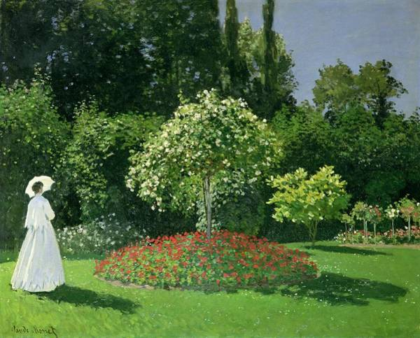 Wall Art - Painting - Jeanne Marie Lecadre In The Garden by Claude Monet