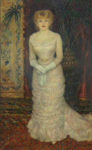 Jeanne Samary Art Print by Pierre Auguste Renoir