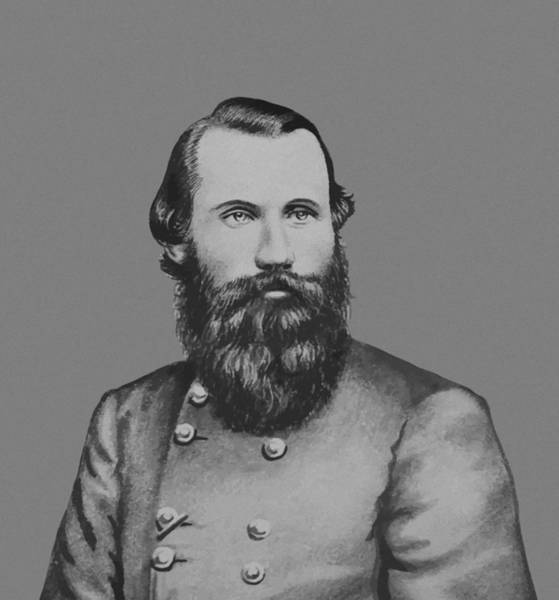 Civil War Wall Art - Painting - Jeb Stuart -- Confederate General by War Is Hell Store