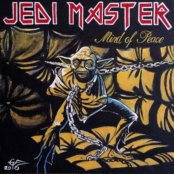 Iron Maiden Wall Art - Painting - Jedi Master - Mind Of Peace by Tom Carlton