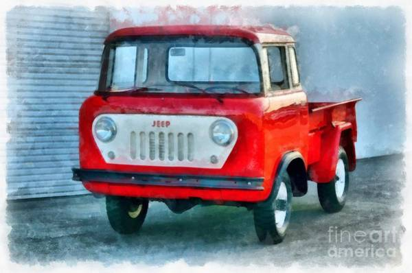 Jeep Wall Art - Painting - Jeep 1959 Fc150 Forward Control Pickup by Edward Fielding