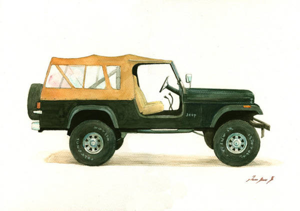 Jeep Wall Art - Painting - Jeep Cj8 by Juan Bosco