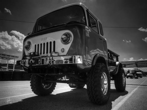 Photograph - Jeep Forward Control 001 Bw by Lance Vaughn