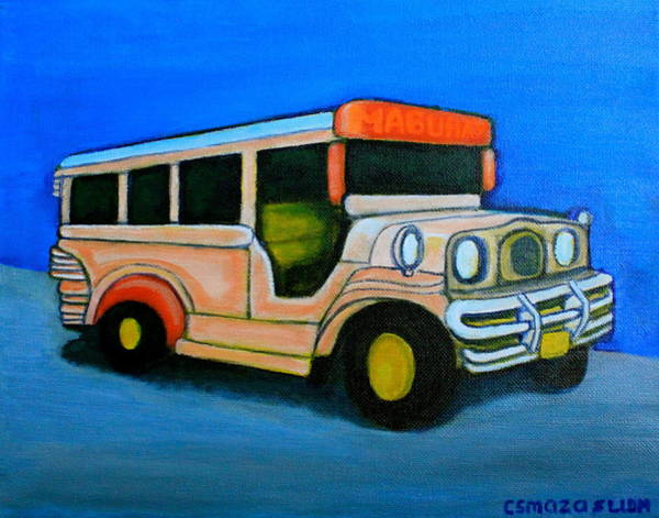 Painting - Jeepney by Lorna Maza