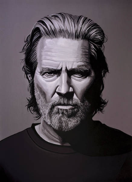 Wall Art - Painting - Jeff Bridges Painting by Paul Meijering