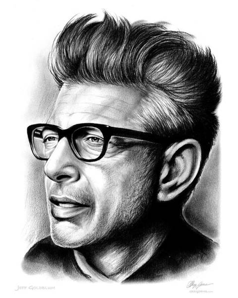 Actor Drawing - Jeff Goldblum by Greg Joens