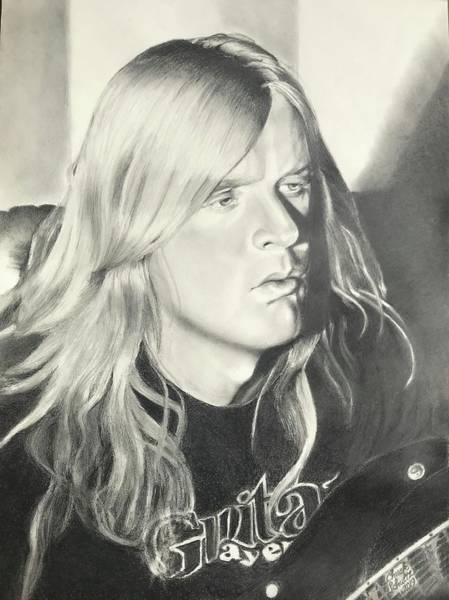Jeff Hanneman Wall Art - Drawing - Jeff Hanneman by Chuck Schultz