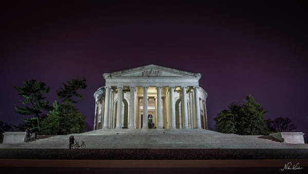 Photograph - Jefferson At Night by Framing Places