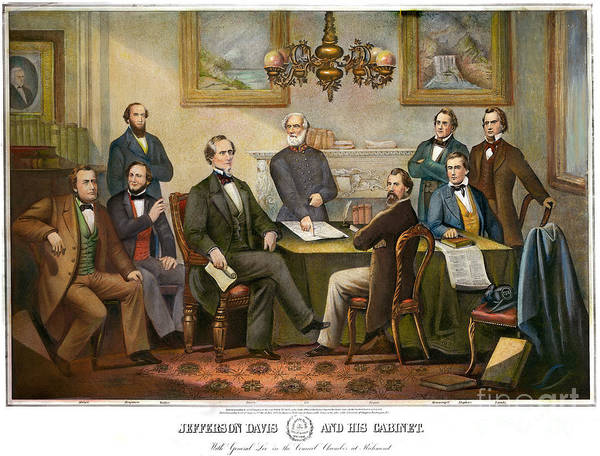 Drawing - Jefferson Davis And Cabinet by Granger