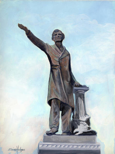 Wall Art - Painting - Jefferson Davis Monument by Elaine Hodges