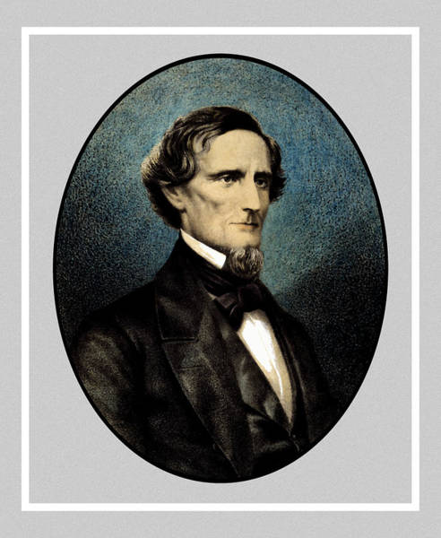 Civil War Wall Art - Painting - Jefferson Davis by War Is Hell Store