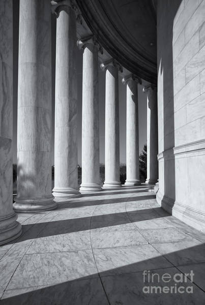Jefferson Memorial Columns And Shadows Art Print