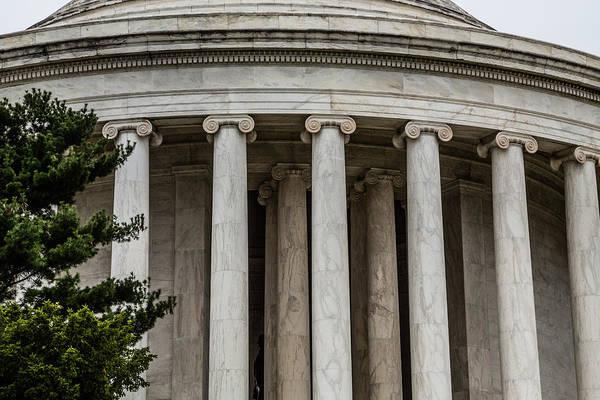Photograph - Jefferson Memorial Columns by Karen Saunders