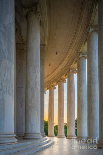 National Mall Wall Art - Photograph - Jefferson Memorial Dawn by Inge Johnsson