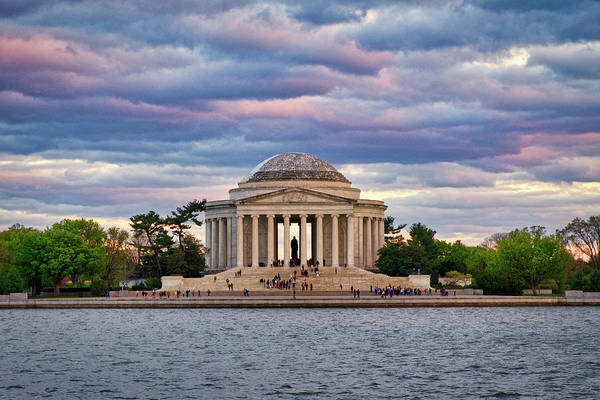 Photograph - Jefferson Memorial Dusk by Stuart Litoff