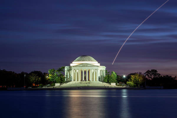 Photograph - Jefferson Memorial Flyby by Ryan Wyckoff