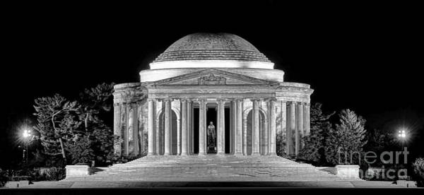 Wall Art - Photograph - Jefferson Memorial Lonely Night by Olivier Le Queinec