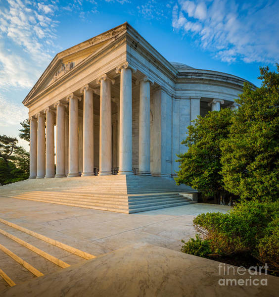 National Mall Wall Art - Photograph - Jefferson Memorial Panorama by Inge Johnsson