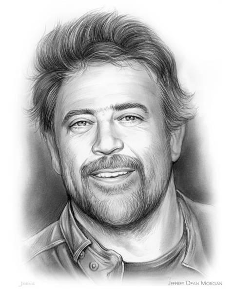 Wall Art - Drawing - Jeffrey Dean Morgan by Greg Joens