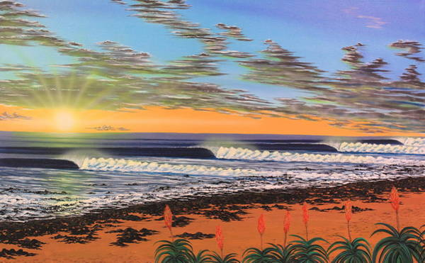 Wall Art - Painting - Jeffreys Bay  South Africa by Marty  Calabrese