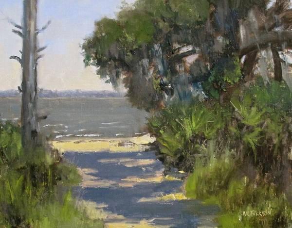 Jekyll Island Painting - Jekyll Beach Path by George Netherton