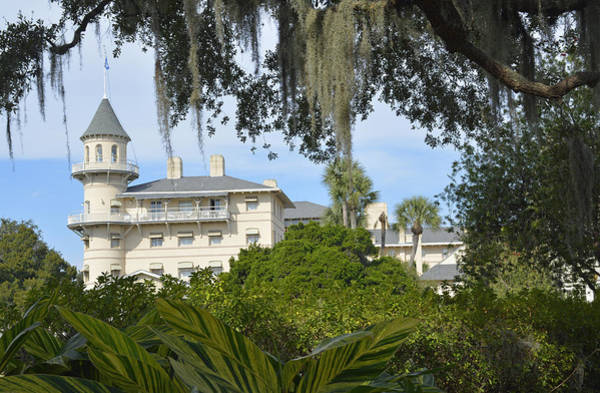 Photograph - Jekyll Island Club Hotel Framed By Moss by Bruce Gourley