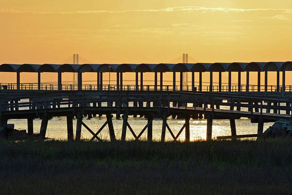 Photograph - Jekyll Island Pier At Sunset by Bruce Gourley