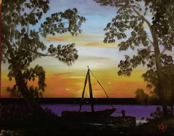 Jekyll Island Painting - Jekyll Island Sunset by Tim Smith