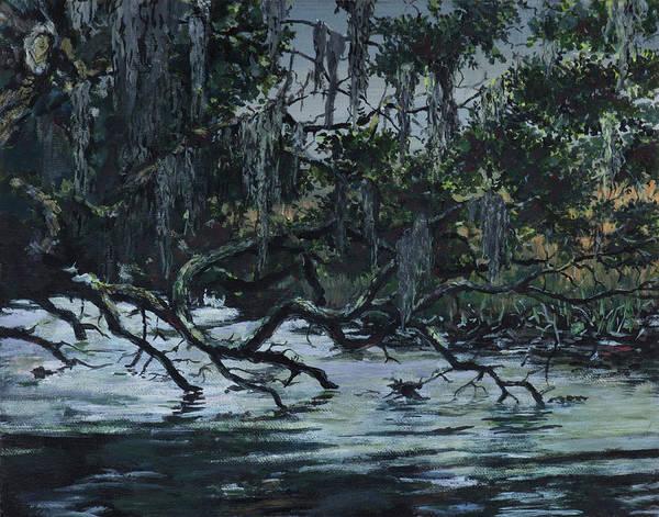 Jekyll Island Painting - Jekyll Slough by Paul Illian