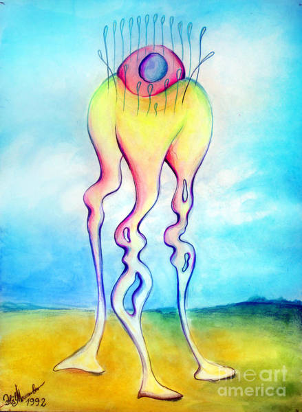 Transformer Painting - Jelly-alike Form Of Life. Space Alien by Sofia Metal Queen