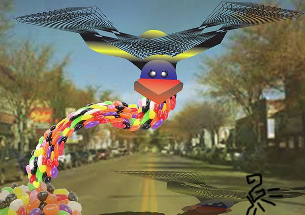 Digital Art - Jellybean Dragon by Tatiana Hallack