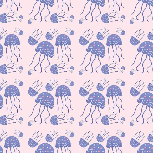 Wall Art - Digital Art - Jellyfish by Mark Ashkenazi