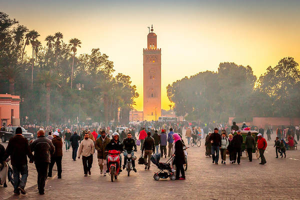 Photograph - Jemaa El Fna Square, Marrakech by Peter OReilly