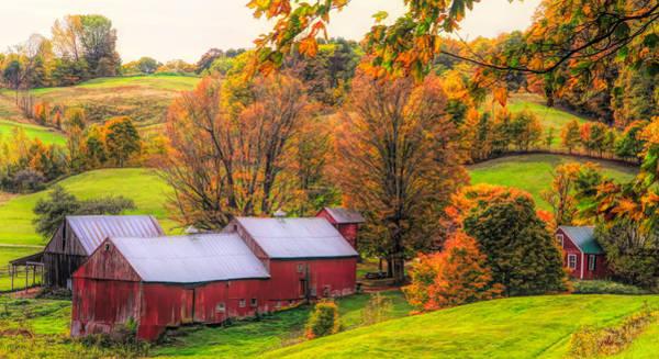 Photograph - Jenne Farm Autumn Colors by Dan Sproul