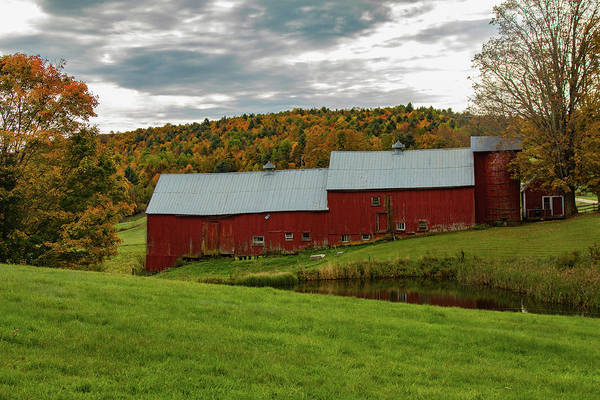 Photograph - Jenne Farm Barns In Autumn by Jeff Folger