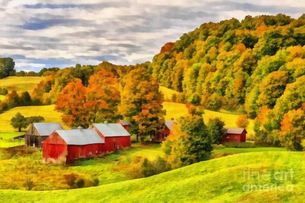 Wall Art - Painting - Jenne Farm Vermont Painting by Edward Fielding
