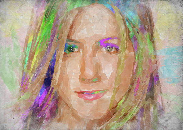 Wall Art - Photograph - Jennifer Aniston Watercolor by Ricky Barnard