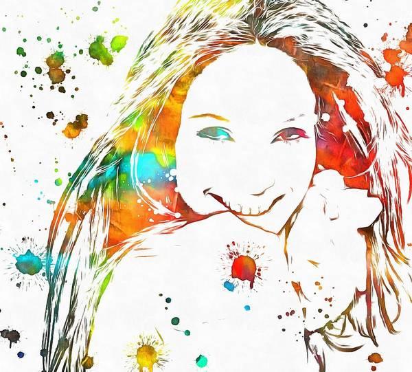 Wall Art - Painting - Jennifer Lopez Paint Splatter by Dan Sproul