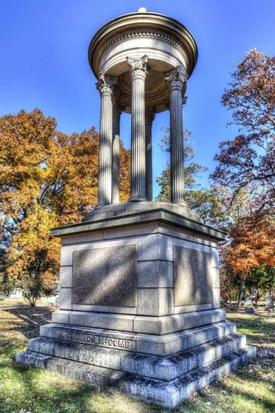 Wall Art - Photograph - Jennings Mccombe Sleepy Hollow Cemetery  by David Pyatt