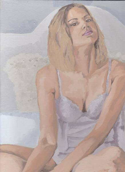 Painting - Jenny In White by Stephen Panoushek