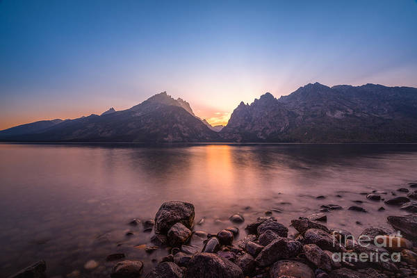Beam Of Light Photograph - Jenny Lake Sunset Grand Teton Np by Michael Ver Sprill