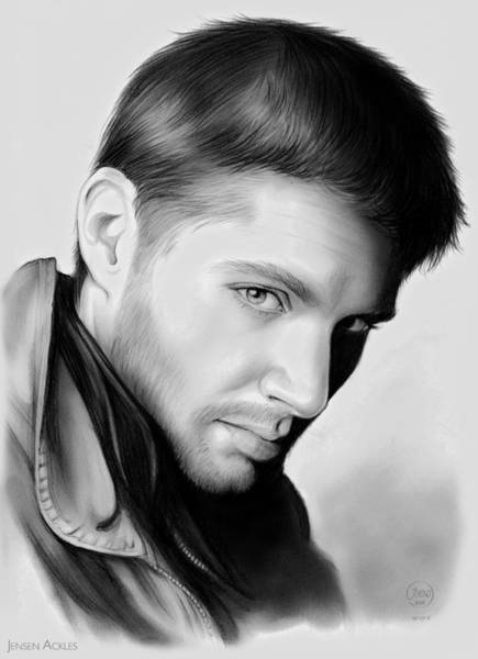 Television Drawing - Jensen Ackles by Greg Joens