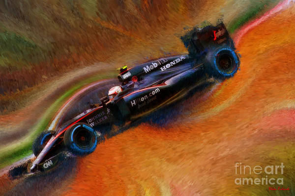 Photograph - Jenson Button 2015 Mclaren Honda by Blake Richards