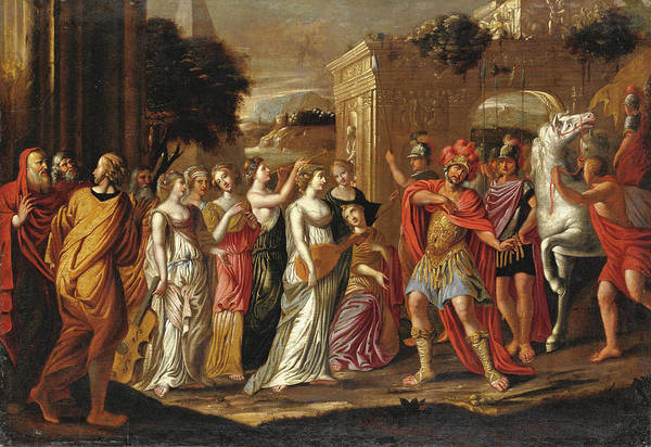Wall Art - Painting - Jephthah's Daughter by Circle of Nicolas Colombel